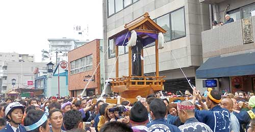 Steel Penis Float at the Kanamara Matsuri Parade, Kawasaki, Kanagawa Prefecture