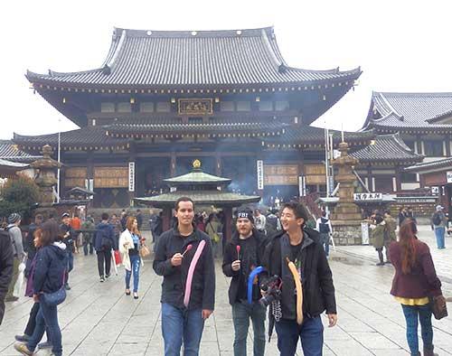 People in party mood at Kawasaki Daishi Temple, Kawasaki, Kanagawa