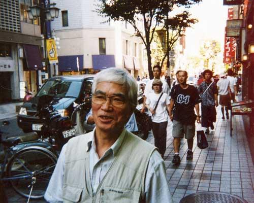 Masao Adachi in Shinjuku, Tokyo
