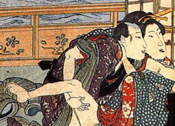 Edo Period Shunga erotic woodblock prints