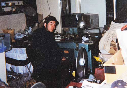 The wild days circa 1999 - a young film director at Tomioka's Steenbeck editing table