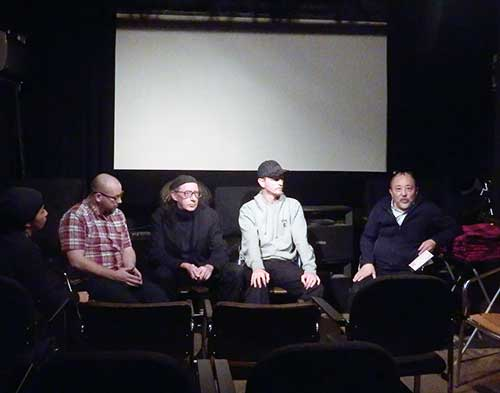 Discussion with international film guests. Kunihiko Tomioka is sitting to the right