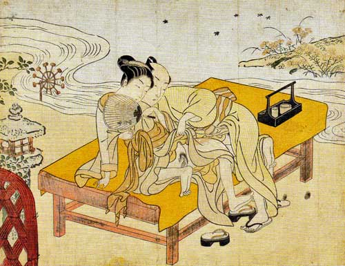 Harunobu Suzuki: Enjoying the Evening Cool (1769)
