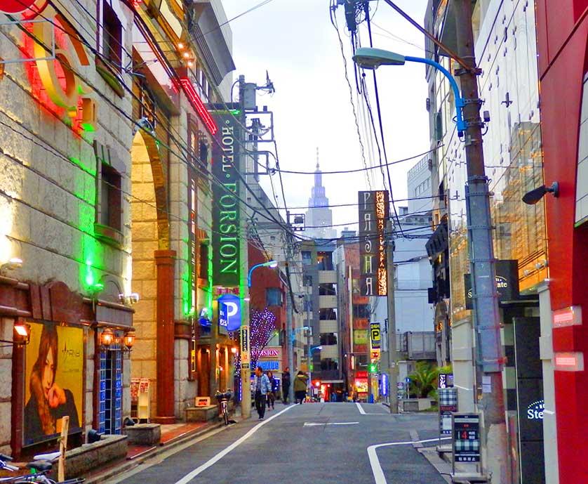 Love Hotels in Kabukicho, Shinjuku, Tokyo.
