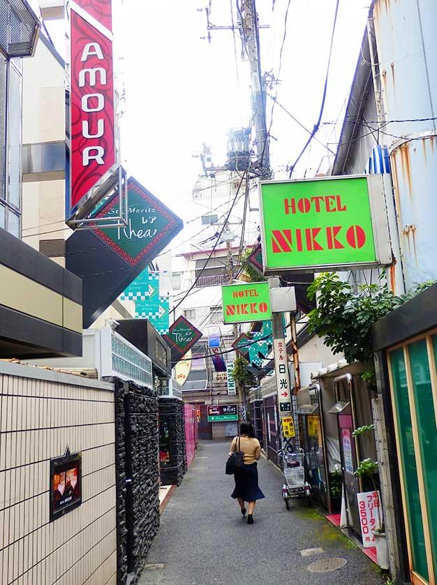 Love Hotels in Uguisudani, Taito-ku, Tokyo