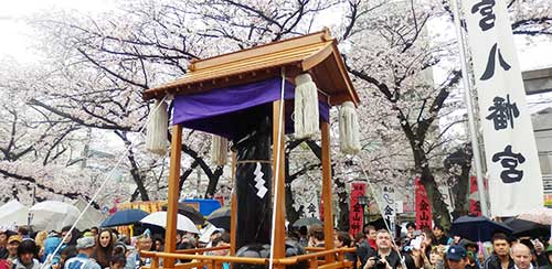 The steel penis in a festival mikoshi